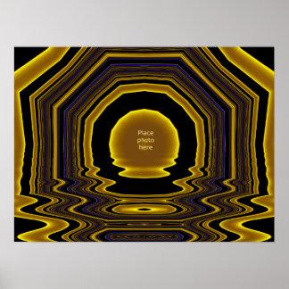 Modèle #10 de cadre de tableau d'or poster