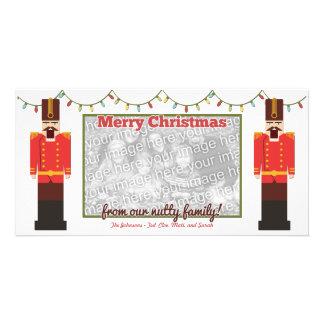 Modèle de carte photo de Joyeux Noël de casse-noix Photocarte Customisée