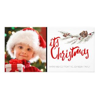 Modèle de carte photo de Noël