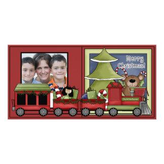 Modèle de carte photo de vacances de Joyeux Noël d Cartes Avec Photo
