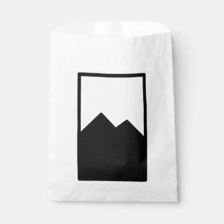 Modèle de sac de faveur sachets en papier