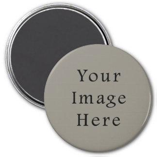 Modèle gris de tendance de couleur de gris en acie magnet rond 7,50 cm