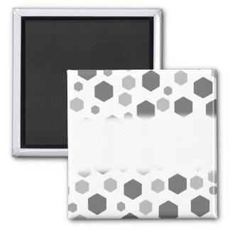 Modèle gris d'hexagones magnet carré