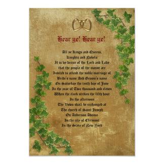 Modèle médiéval de décret de faire-part de mariage