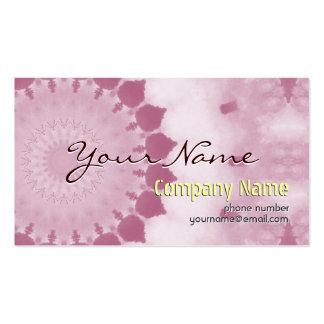 Modèle rose moderne de cartes de visite de fleur carte de visite standard