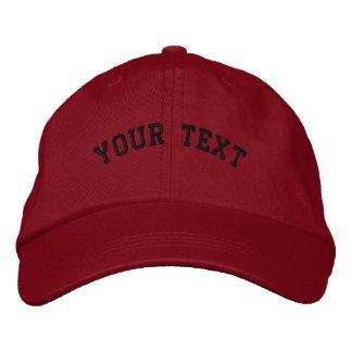 Modèle rouge brodé de base de casquette casquettes brodées