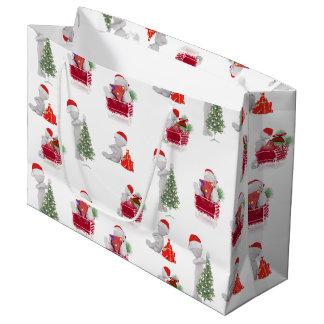Modell des Weihnachten3d Große Geschenktüte