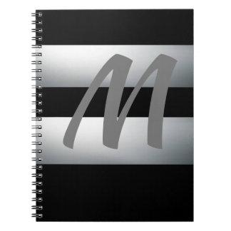 Modern, elegant, schwarz u. grau, stilvoll, notizblock