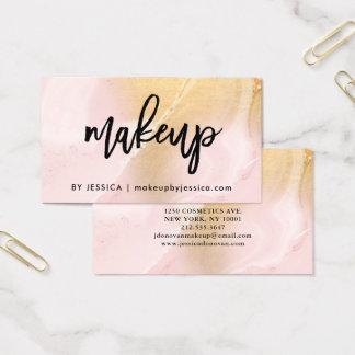 Modern errötet Rosa und Make-up des Visitenkarte