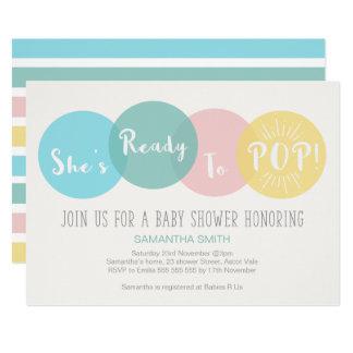 Modern ist sie zur Pop-Baby-Duschen-Einladung Karte