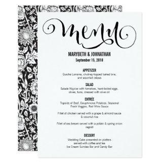 Modern Script wir Hochzeits-Menü-Karte Karte