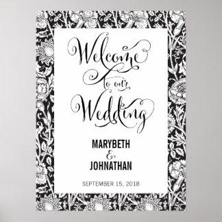 Modern Script wir Hochzeits-willkommenes Poster