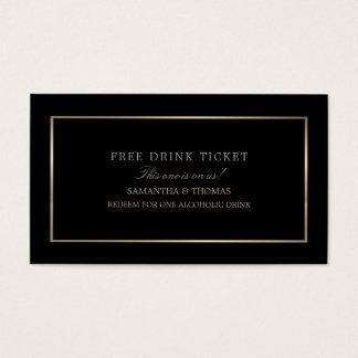 Modern u. glatt, schwarz u. Gold, geben Sie Visitenkarte