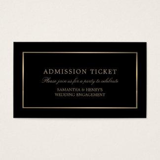 Modern und glatt, schwarz und Gold, Aufnahme-Karte Visitenkarte