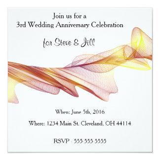 Moderne 3. Hochzeitstag-Einladung Karte