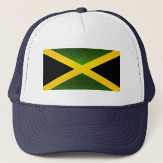 Moderne abgestreifte jamaikanische Flagge Truckerkappe