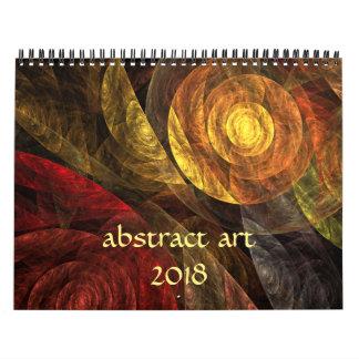 Moderne abstrakte Kunst 2018 Abreißkalender