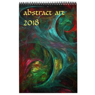 Moderne abstrakte Kunst 2018 Kalender