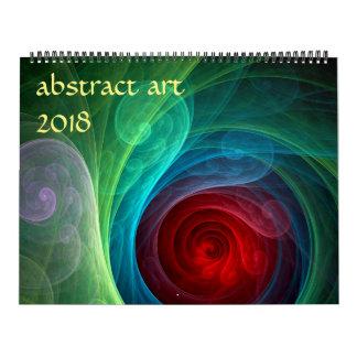 Moderne abstrakte Kunst 2018 Wandkalender