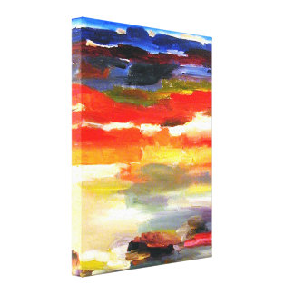 Moderne abstrakte Landschaftskunst-Malerei Leinwanddruck