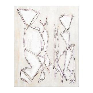 Moderne abstrakte Schwarzweiss-Kunst für Paare Leinwanddruck