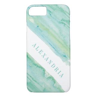 Moderne Aqua-Aquarell-Wäsche iPhone 8/7 Hülle