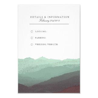 Moderne Aquarell-Gebirgsinformations-Karte 8,9 X 12,7 Cm Einladungskarte