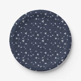 Modernes muster teller for Pappteller blau