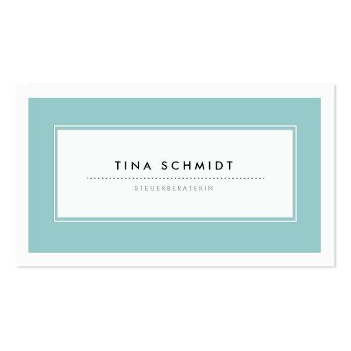Moderne Blau Visitenkarten Cartes De Visite Personnelles