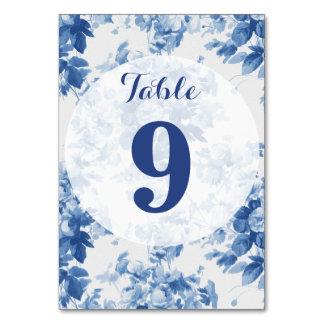 Moderne blaue BlumenBlumenwatercolor-Hochzeit Karte