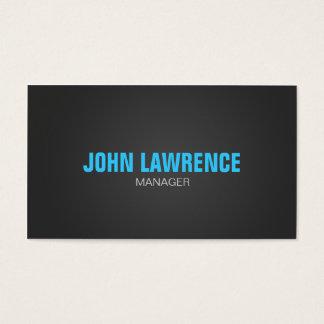 Moderne blaue und dunkelgraue Visitenkarte