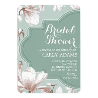 Moderne Blumenmagnolien-Brautparty-Einladung 12,7 X 17,8 Cm Einladungskarte