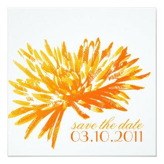 Moderne BlumenSave the Date Karten Quadratische 13,3 Cm Einladungskarte
