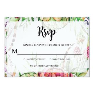 Modern Floral Watercolor RSVP Card