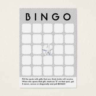 Moderne Brautparty-Bingo-Karte der Streifen-5x5 Visitenkarte