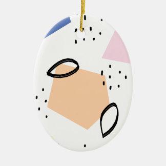 Moderne bunte Geometrie inspirierter Druck Keramik Ornament