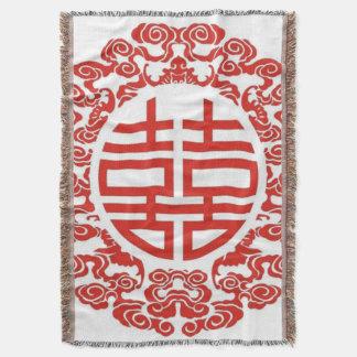 moderne chinesische Hochzeit des roten doppelten Decke