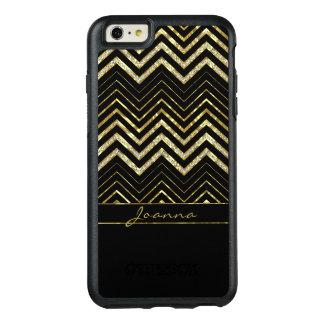 Moderne Diamanten und GoldZickzack Muster OtterBox iPhone 6/6s Plus Hülle