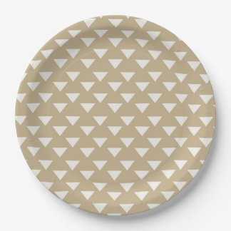 Moderne Dreieck-Party-Versorgungs-Platte Pappteller