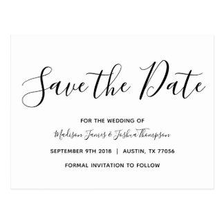 Moderne | einfache Eleganz | Save the Date Postkarte