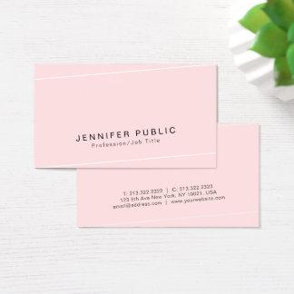 Moderne einfache Glamour-erstklassige Seide Visitenkarte