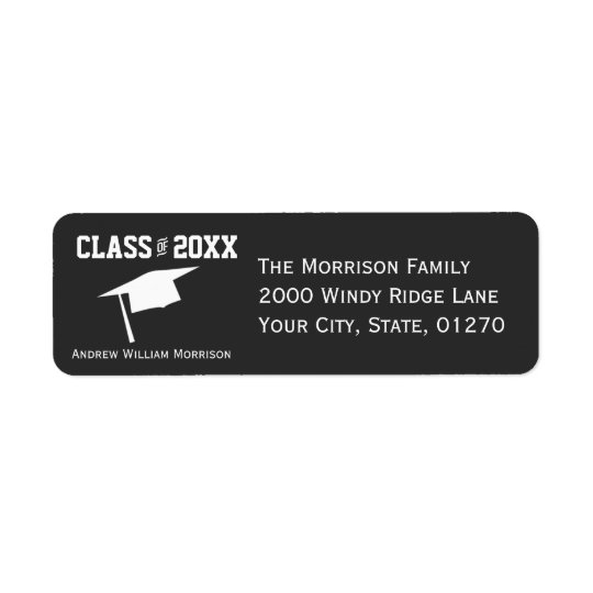 Moderne einfache graue Abschluss-Kappen-Klasse von
