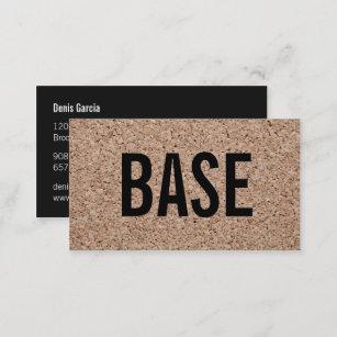Moderne Einfache Schwarze Coole Visitenkarte