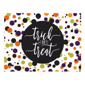 Moderne Einladung Trick-oder Leckerei-Halloweens Postkarte