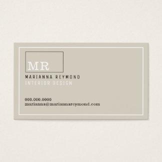 moderne Einleitung Kontaktkarte, Innenarchitektur Visitenkarten