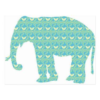 Moderne Elefant-Silhouette Postkarte