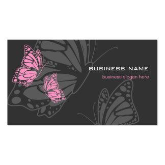 Moderne élégant rose et foncé de papillon carte de visite