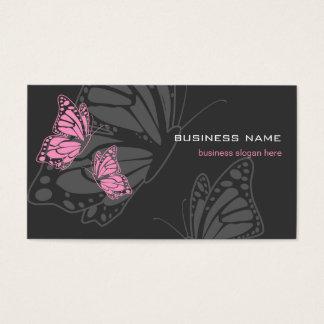 Moderne élégant rose et foncé de papillon cartes de visite