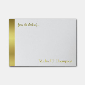 Moderne elegante Goldfolie Post-it Klebezettel