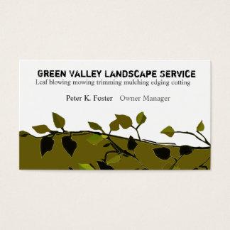 Moderne elegante Landschaftsniederlassungen Visitenkarte
